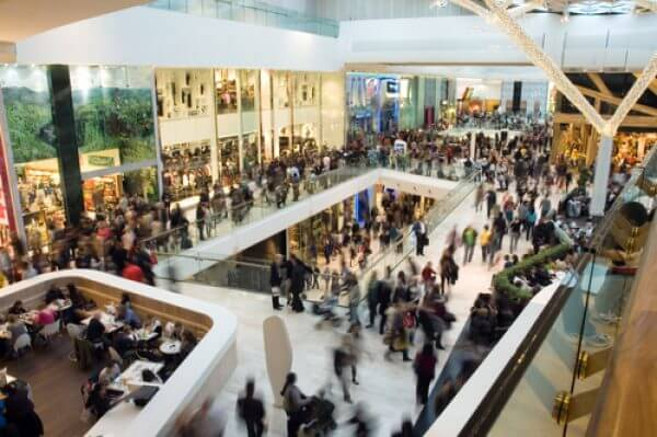 Crowd in a shopping centre