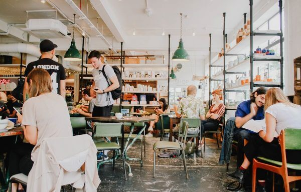 Shot of a busy cafe