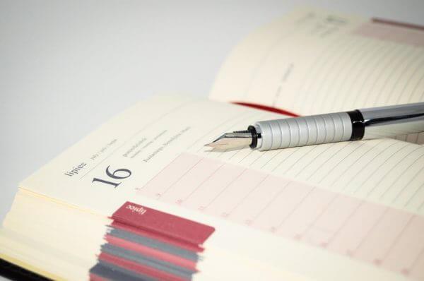 a calendar diary