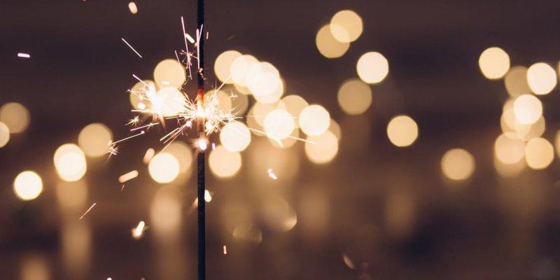 sparkler new year